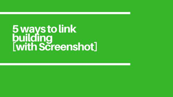 5 easy and best ways to link building
