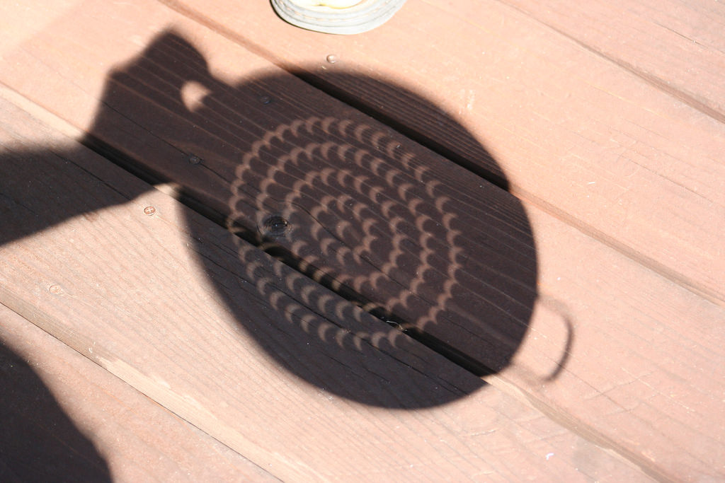 Solar Eclipse Through a Colander