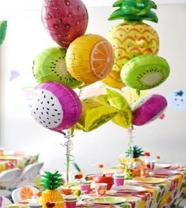 Balloon fruit garland