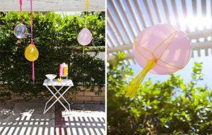 Macramé balloons