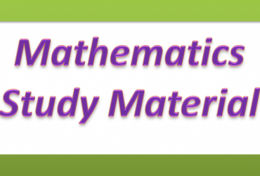 Study material for mathematics