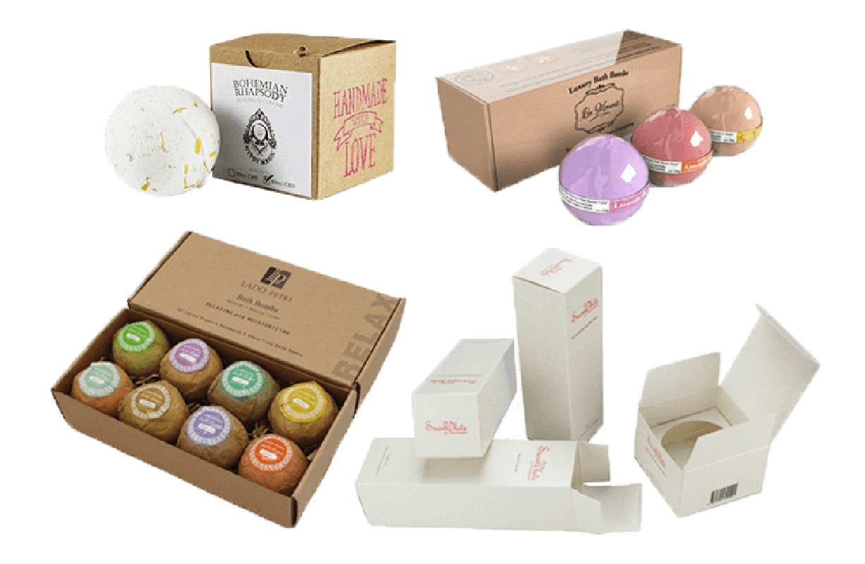 Find Custom Bath Bomb Packaging Boxes at Wholesale Rates