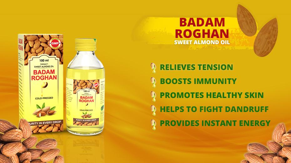 Applying the Badam Rogan For Hair